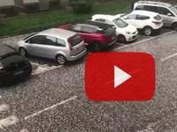METEO CRONACA DIRETTA VIDEO: MILANO mitragliata dalla GRANDINE in diretta!