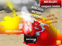 METEO: ANOMALIA MARI ITALIA BOLLENTI + 8°C oltre norma. Conseguenze immediate rischio Uragano Mediterraneo