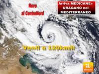 Meteo: URAGANO MEDITERRANEO (MEDICANE) diretto contro l'ITALIA. DISASTROSI VENTI di TEMPESTA a 120km/h e NEVE