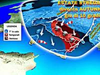 Meteo: ESTATE 2018 STREGATA nella FOLLIA delle TEMPERATURE da Sabato diventa AUTUNNO, giù di 10°C