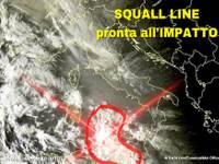 Meteo Urgente: autentica SQUALL LINE pronta ad IMPATTO. Ecco dove colpirà nei prossimi minuti