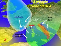 METEO: Primavera shock per il Primo Maggio, arriva il ciclone MEDEA [VIDEO]