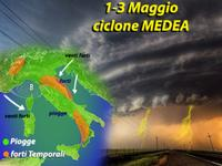 METEO, weekend Primo Maggio con Temporali e Neve del ciclone Medea [VIDEO]