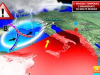 METEO PRIMO MAGGIO: peggiora con piogge e temporali [MAPPA] e [VIDEO]