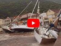 Meteo CRONACA DIRETTA VIDEO: l'URAGANO Mediterraneo impatta sulla GRECIA. Venti a 150 km/h e onde alte 8 metri