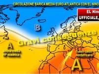 METEO: è ufficiale arriva El Niño, GRAVI conseguenze DIRETTE anche in Italia, vi spieghiamo cosa provocherà