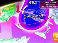 Meteo TEMPERATURE in CADUTA LIBERA: GELO in arrivo, TRACOLLO di 10°C da Nord a Sud, ecco quando
