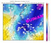 METEO: SENTENZA del Centro Meteo Internazionale, Domenica 27 arriva il BURIAN in anticipo in Italia