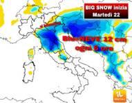 METEO COMUNICATO UFFICIALE URGENTE NEVE: arriva BIG SNOW, da Martedì 22 a Venerdì 25 e sarà eclatante