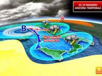 Meteo: ULTIMA TEMPESTA di MAGGIO. I TEMPORALI di Martedì 22 e Mercoledì 23 prima della SVOLTA