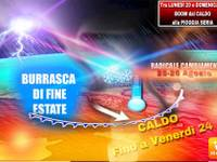 Meteo: tra Lunedì 20 e Domenica 26 Agosto BOOM, CATAPULTA SHOCK dal CALDO SURREALE alla PIOGGIA SERIA e NEVE