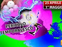 Meteo: 25 Aprile e 1° Maggio, il PERICOLO TEMPORALESCO offuscherà i PONTI di PRIMAVERA. Ecco i MOTIVI