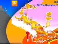 METEO: Tutto CAPOVOLTO, 30°C a Bolzano e 20°C Sicilia. Ma cosa sta accadendo?