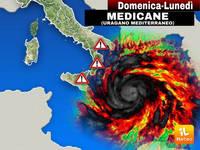 Meteo: tra Domenica e Lunedì della NUOVA SETTIMANA un Ciclone diverrà MEDICANE (Uragano Mediterraneo) colpendoci
