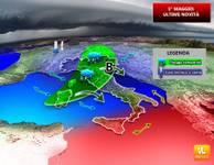 METEO: PRIMO MAGGIO, scontro tra aria CALDA e aria FRESCA, veloce MALTEMPO sull'ITALIA