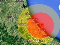 TERREMOTO FORTE M 4.0 RIMINI Sant Arcangelo ore 13:48 18 Novembre 2018 avvertito anche a Cesena e Pesaro