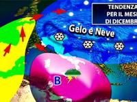 Meteo: ecco le previsioni aggiornate per DICEMBRE 2018, novità in vista per Immacolata e Natale