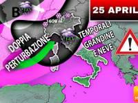 Meteo: 25 Aprile, Italia colpita da TEMPORALI e FREDDO per TUTTA la PROSSIMA SETTIMANA. Ecco DOVE