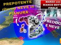 METEO: MARZO con BIANCO BOTTO FINALE, a fine mese torna PREPOTENTE la NEVE in PIANURA, ecco DOVE