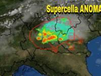 METEO CRONACA DIRETTA URGENTE:  supercelle anomale in Lombardia verso il Veneto