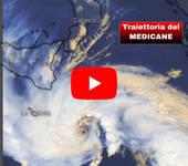 METEO: è Storia, è IMPRESSIONANTE il VIDEO  della TRAIETTORIA AGGIORNATA dell'Uragano Mediterraneo MEDICANE