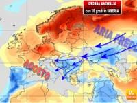 METEO: ecco come la GROSSA ANOMALIA in Siberia causerà un AGOSTO più FREDDO in ITALIA