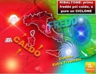 Meteo: in settimana dopo il FREDDO nuovo RIBALTONE CALDO, e  pure un CICLONE Extra-Tropicale, ecco dove