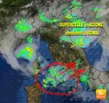 METEO DIRETTA URGENTE: SUPERCELLE in AZIONE, anche ROMA si prepari al rischio NUBIFRAGIO