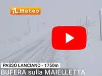 Meteo Cronaca DIRETTA: ABRUZZO, Bufera di NEVE sull'APPENNINO. Il VIDEO