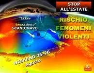 Meteo: DRAMMATICA FINE ESTATE. Sabato 25 e Domenica 26 TANTA PIOGGIA, CROLLO di 15°C, arriva pure la NEVE