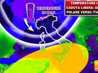 Meteo: TEMPERATURE in CADUTA LIBERA, GELO POLARE verso Italia. Vediamo QUANDO e DOVE farà più FREDDO