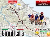 Percorso della tappa 9 del Giro d'Italia da Pesco Sannita a Campo Imperatore