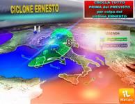 Meteo: CROLLA TUTTO prima del PREVISTO già da Giovedì 23 AGOSTO a Domenica 26 per colpa del CICLONE ERNESTO