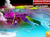 METEO: tendenza OTTOBRE, si parte con più fresco, ma poi arrivano le VERE piogge autunnali. Ecco quando