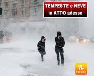 METEO CRONACA DIRETTA: ecco il BURIAN, NEVE improvvisa sulle COSTE, a CASERTA, NAPOLI, SALERNO, Puglia Taranto