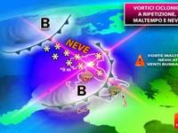 Meteo: TUTTA la SETTIMANA Italia nella TRAPPOLA della NEVE da Nord a Sud. Ecco il DETTAGLIO