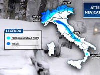 Meteo: attese le prime NEVICATE di stagione fin sulle Pianure. Scopriamo dove e quando.Anche a Milano copiosa!