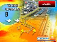 Meteo AGOSTO: VACANZE ITALIANE in PERICOLO, la TENDENZA per FERRAGOSTO non lascia SCAMPO. I MOTIVI