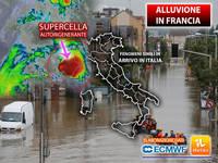 Cronaca METEO: 60.000 FULMINI in una SUPERCELLA AUTORIGENERANTE nel SUD della FRANCIA. A rischio ora anche l'ITALIA