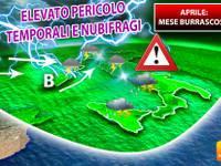 Meteo > tutto APRILE sarà BURRASCOSO, elevato PERICOLO GRANDINE, ma anche NUBIFRAGI [PROIEZIONI UFFICIALI]