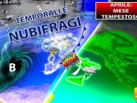 Meteo > TUTTO APRILE sarà un mese TEMPESTOSO, a più riprese NUBIFRAGI con GRANDINE, ecco DOVE colpiranno