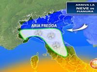 Meteo: Giovedì/Venerdì NEVE fino in PIANURA, ecco le zone coinvolte e i rischi per la CIRCOLAZIONE STRADALE