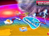 Meteo: PROSSIMA SETTIMANA da Lunedì nuova SFURIATA temporalesca poi ancora CALDO alle STELLE, altri TEMPORALI