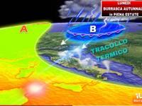 Meteo: Lunedì BURRASCA  in PIENA ESTATE, GRANDINE e TEMPERATURE giù di 10°C
