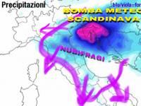 METEO: arriva la BOMBA METEOROLOGICA SCANDINAVA, GRANDINE, Bora a 70km/h, crollo TEMPERATURE, ESTATE KO