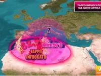 METEO: STRANO TAPPO a 52,4°C in ALGERIA, POTREBBE STAPPARSI verso ITALIA. Ecco QUANDO