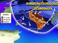 METEO: arriva la BOMBA METEOROLOGICA SCANDINAVA, GRANDINE estrema, Bora a 70km/h, TEMPERATURE giù, ESTATE KO