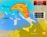 Meteo: da Lunedì 24 BREAK all'Estate: temporali e giù di 8/10° [VIDEO]