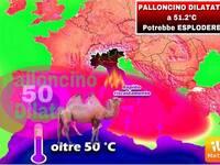 METEO: PALLONCINO DILATATO a 51,2°C in ALGERIA, POTREBBE ESPLODERE contro l'ITALIA. Vediamo QUANDO