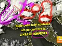 METEO CRONACA DIRETTA: Supercelle FUORI CONTROLLO, STA PER ARRIVARE la linea di TEMPESTA di GRANDINE